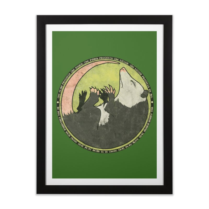 The Holy Possum Symbol Home Framed Fine Art Print by The Dungeon Rat's Shop