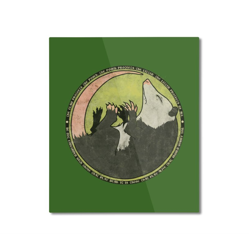 The Holy Possum Symbol Home Mounted Aluminum Print by The Dungeon Rat's Shop