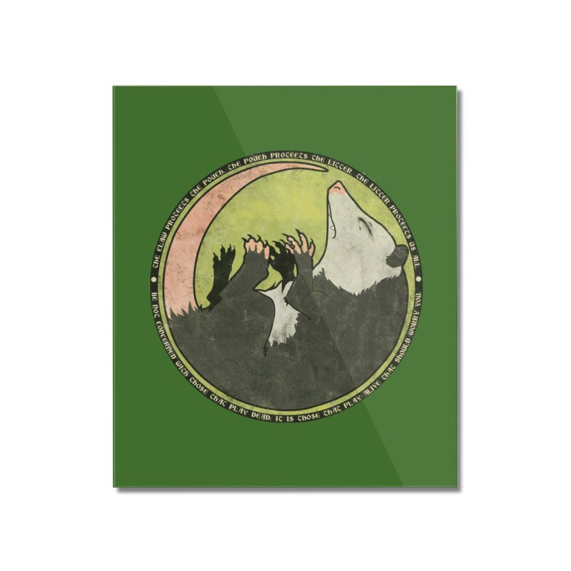 The Holy Possum Symbol Home Mounted Acrylic Print by The Dungeon Rat's Shop