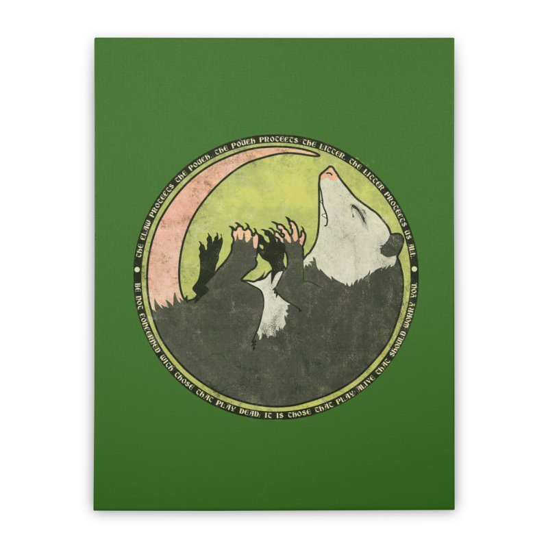 The Holy Possum Symbol Home Stretched Canvas by The Dungeon Rat's Shop