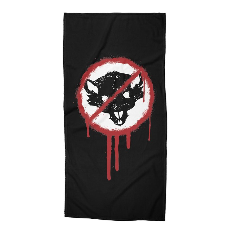 Court of Crown Graffiti Accessories Beach Towel by The Dungeon Rat's Shop