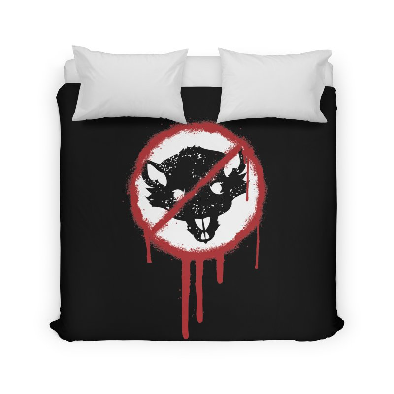 Court of Crown Graffiti Home Duvet by The Dungeon Rat's Shop