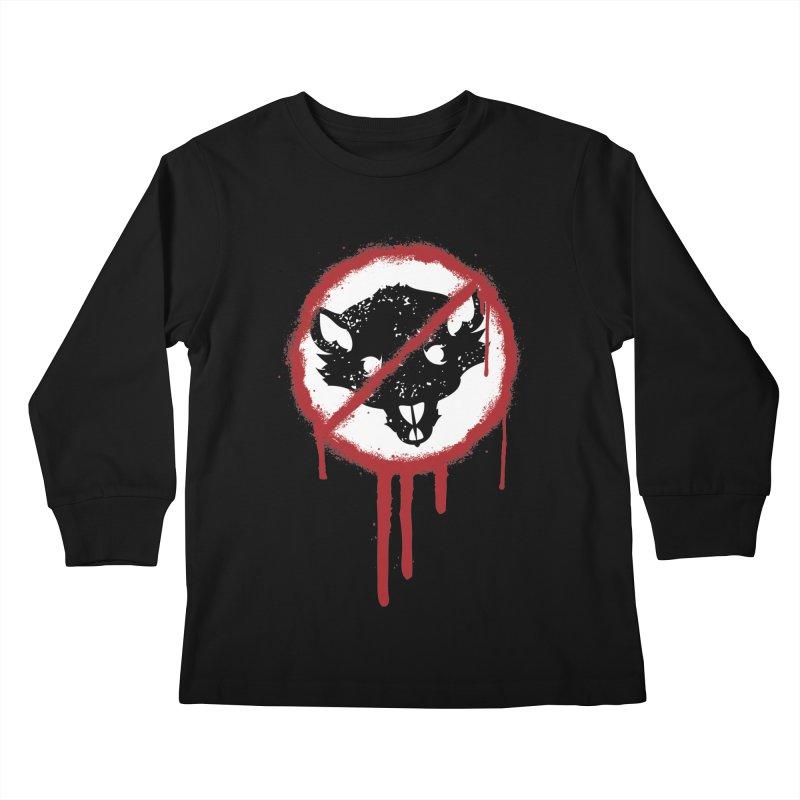 Court of Crown Graffiti Kids Longsleeve T-Shirt by The Dungeon Rat's Shop