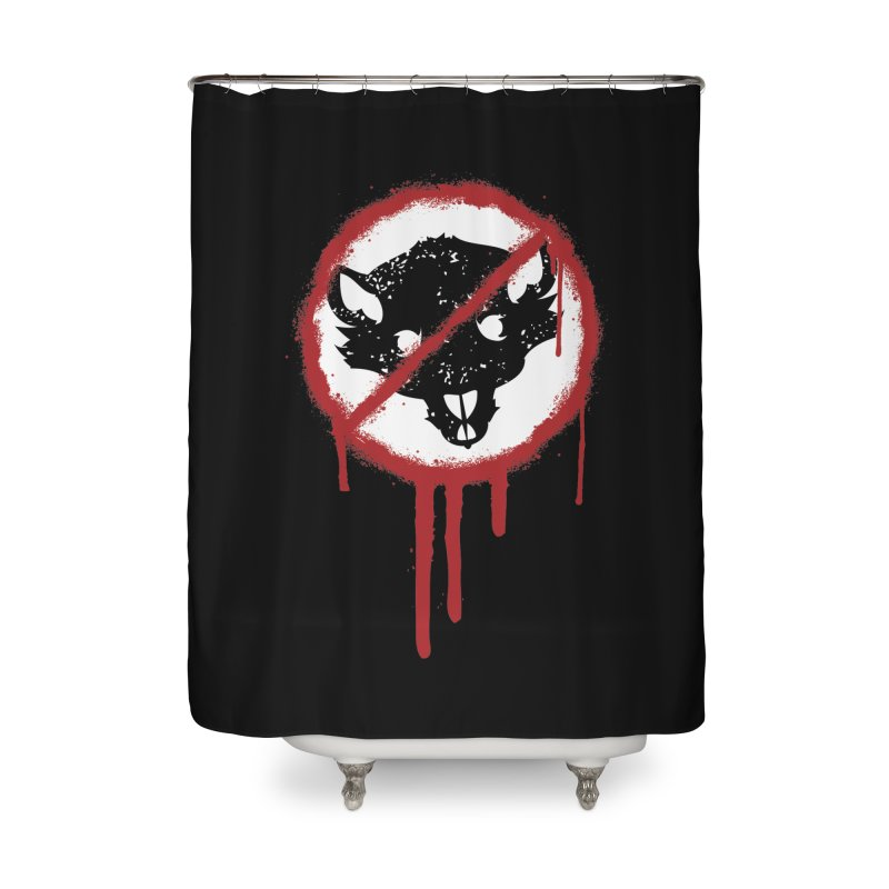 Court of Crown Graffiti Home Shower Curtain by The Dungeon Rat's Shop