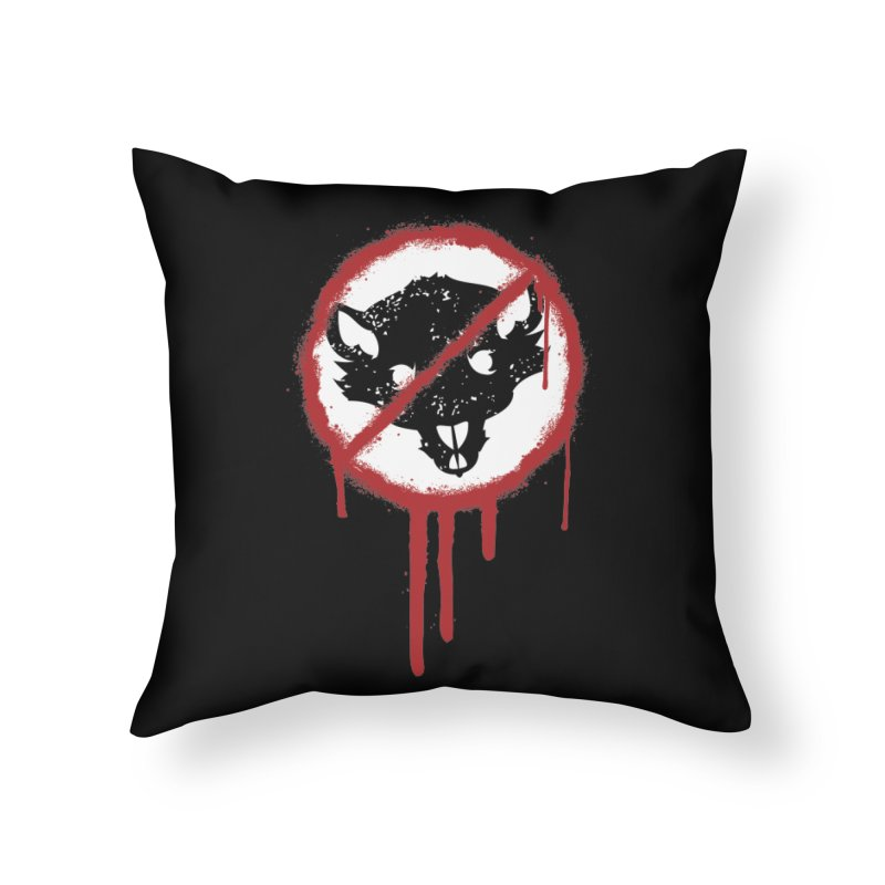 Court of Crown Graffiti Home Throw Pillow by The Dungeon Rat's Shop