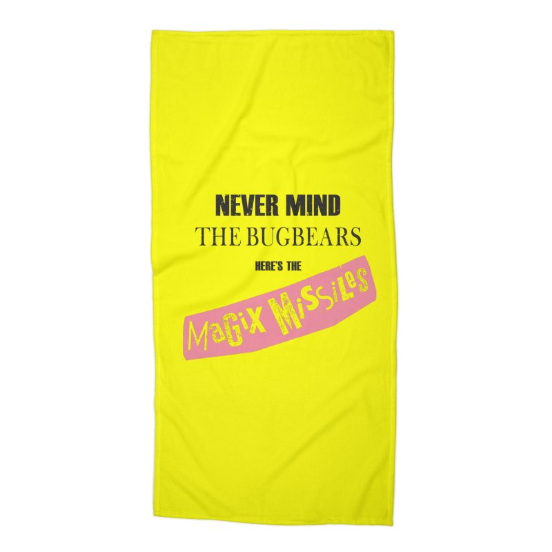 Magix Missiles Accessories Beach Towel by The Dungeon Rat's Shop