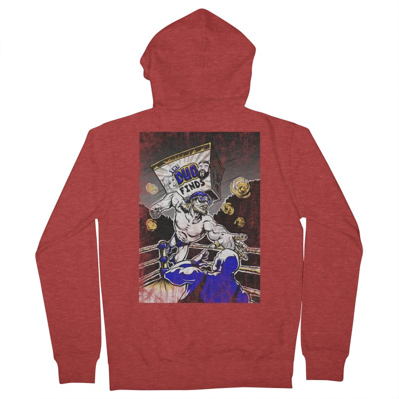 The Duo Finds Wrestler Men's French Terry Zip-Up Hoody by The Duo Find's Artist Shop