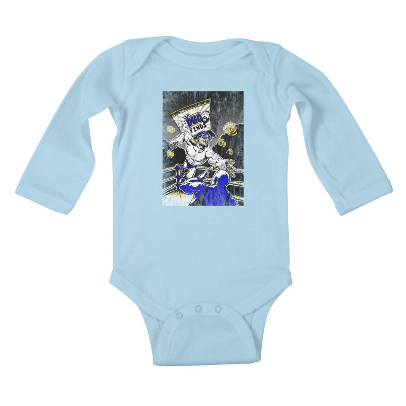 The Duo Finds Wrestler Kids Baby Longsleeve Bodysuit by The Duo Find's Artist Shop