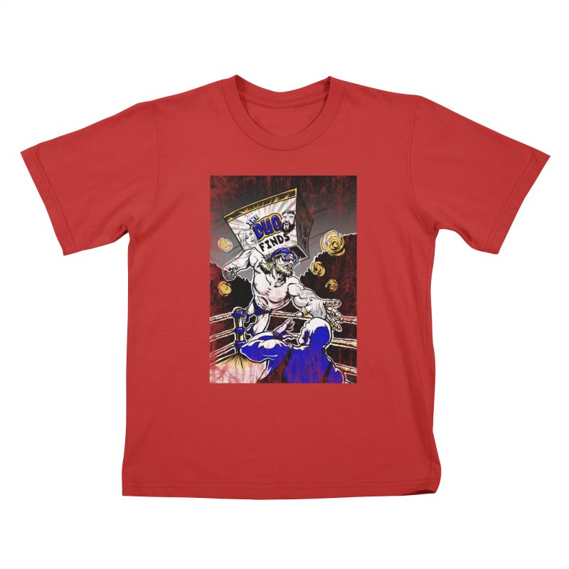 The Duo Finds Wrestler Kids T-Shirt by The Duo Find's Artist Shop