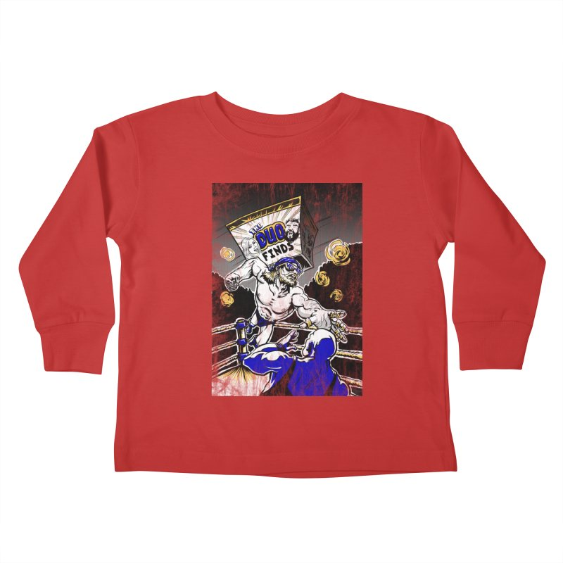 The Duo Finds Wrestler Kids Toddler Longsleeve T-Shirt by The Duo Find's Artist Shop