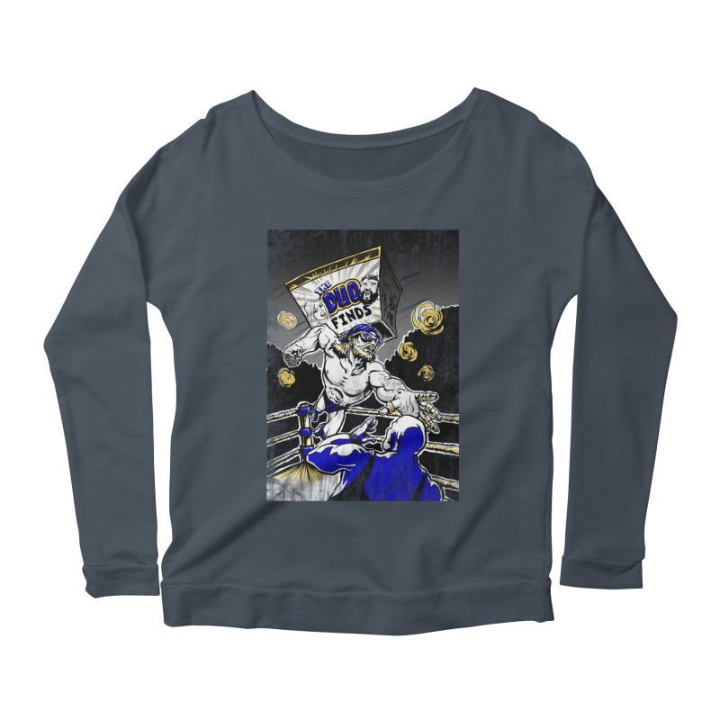 The Duo Finds Wrestler Women's Scoop Neck Longsleeve T-Shirt by The Duo Find's Artist Shop