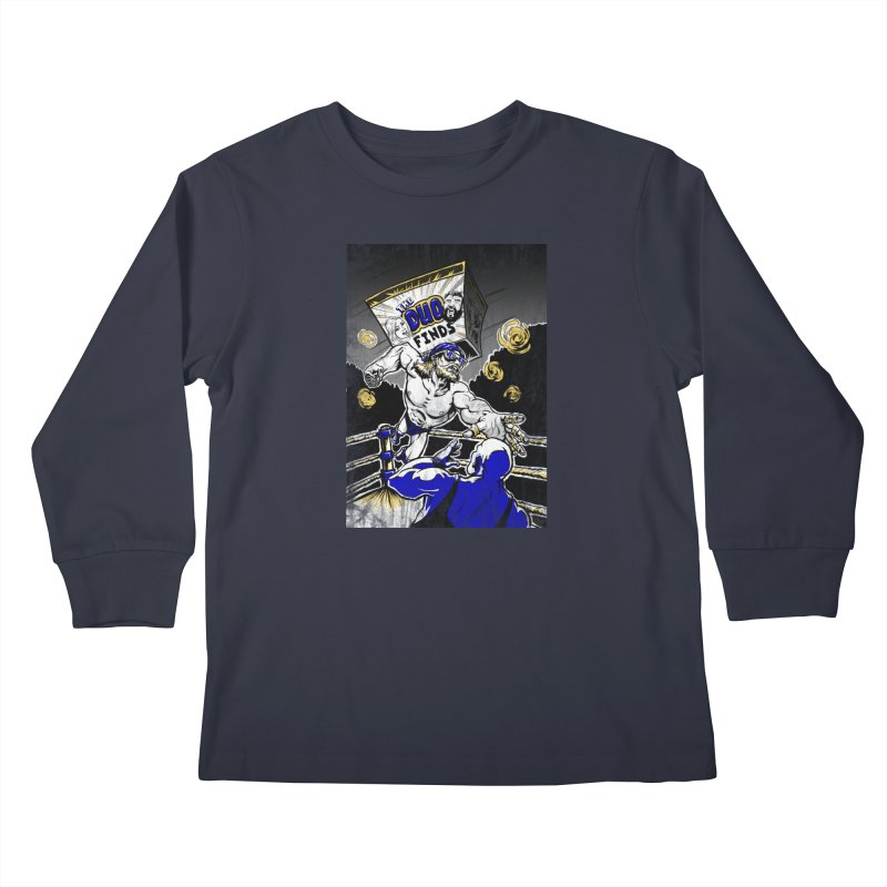 The Duo Finds Wrestler Kids Longsleeve T-Shirt by The Duo Find's Artist Shop