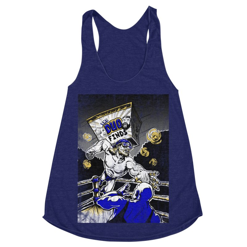 The Duo Finds Wrestler Women's Racerback Triblend Tank by The Duo Find's Artist Shop