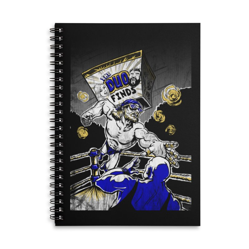 The Duo Finds Wrestler Accessories Lined Spiral Notebook by The Duo Find's Artist Shop