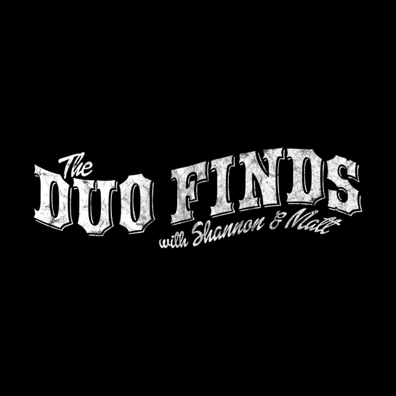 The Duo Finds Logo Aged Home Shower Curtain by The Duo Find's Artist Shop