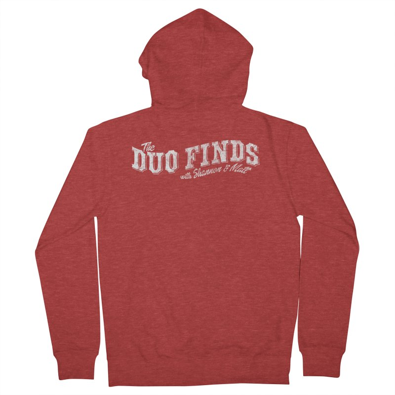 The Duo Finds Logo Aged Women's French Terry Zip-Up Hoody by The Duo Find's Artist Shop