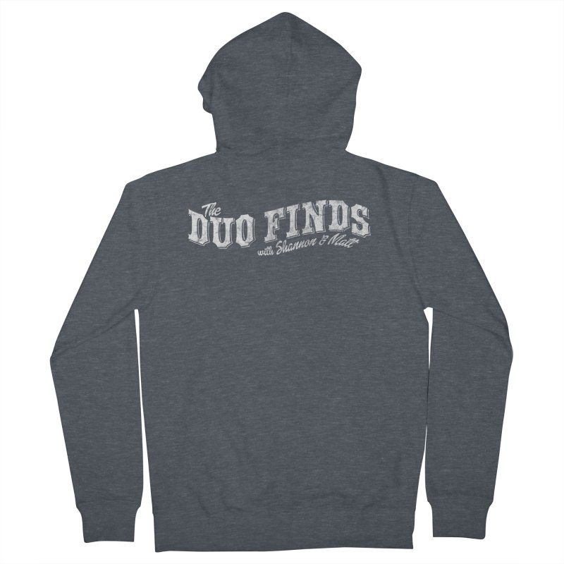 The Duo Finds Logo Aged Men's French Terry Zip-Up Hoody by The Duo Find's Artist Shop