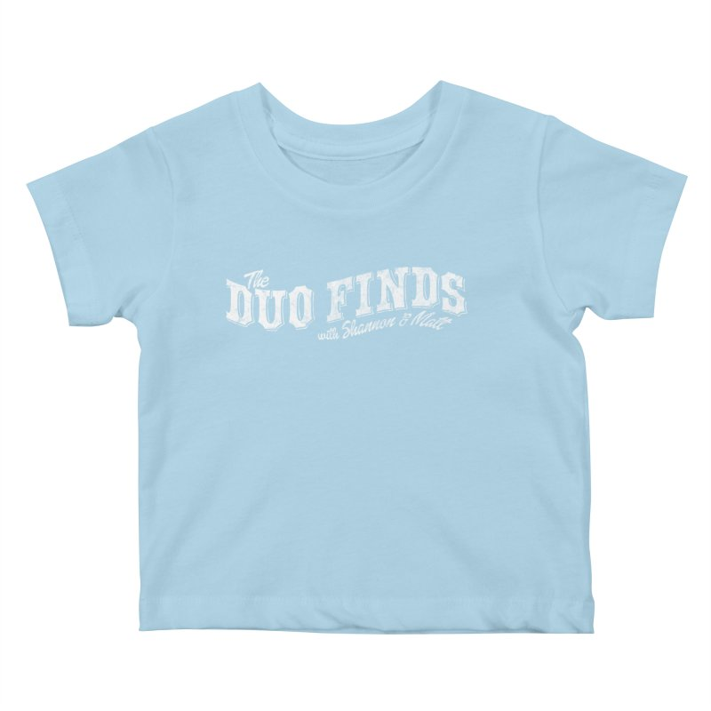 The Duo Finds Logo Aged Kids Baby T-Shirt by The Duo Find's Artist Shop
