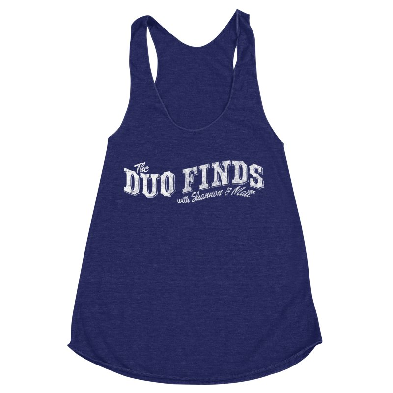 The Duo Finds Logo Aged Women's Racerback Triblend Tank by The Duo Find's Artist Shop