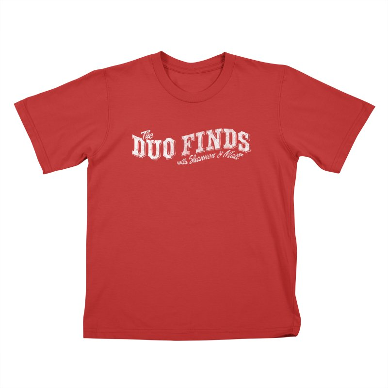 The Duo Finds Logo Aged Kids T-Shirt by The Duo Find's Artist Shop