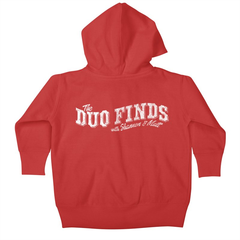 The Duo Finds Logo Aged Kids Baby Zip-Up Hoody by The Duo Find's Artist Shop