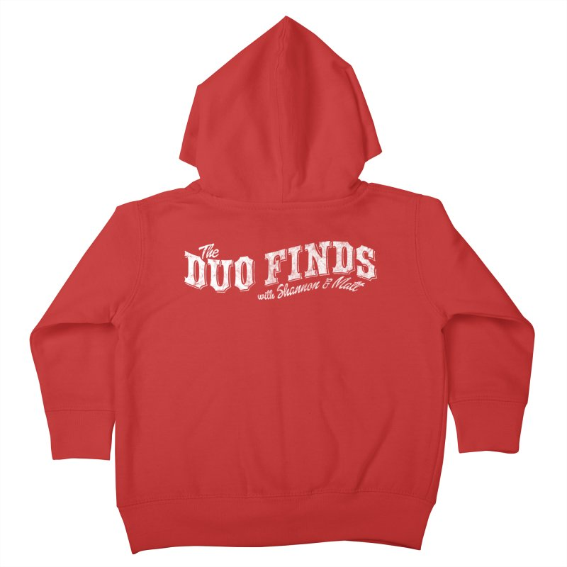 The Duo Finds Logo Aged Kids Toddler Zip-Up Hoody by The Duo Find's Artist Shop