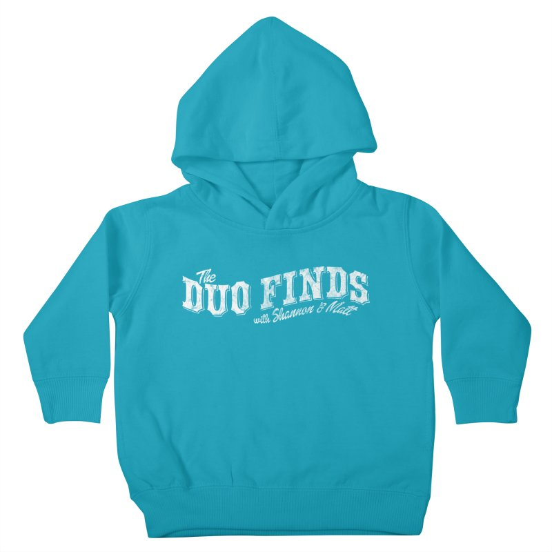 The Duo Finds Logo Aged Kids Toddler Pullover Hoody by The Duo Find's Artist Shop