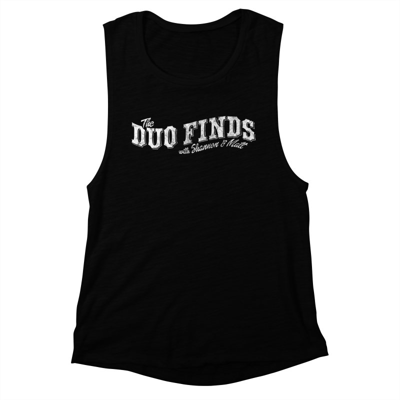 The Duo Finds Logo Aged Women's Muscle Tank by The Duo Find's Artist Shop