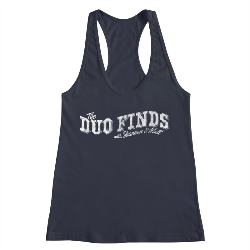 The Duo Finds Logo Aged Women's Racerback Tank by The Duo Find's Artist Shop