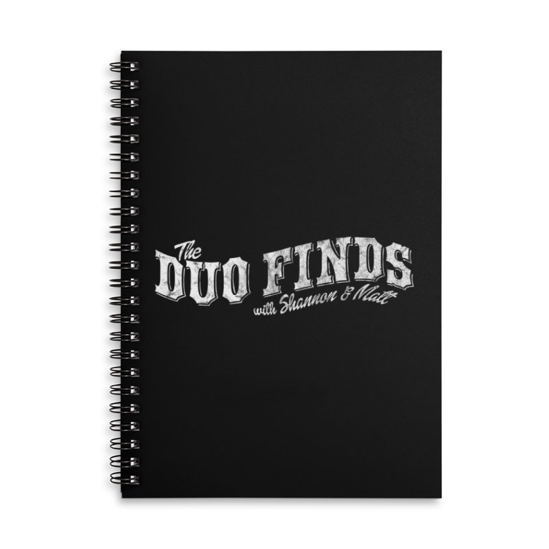 The Duo Finds Logo Aged Accessories Lined Spiral Notebook by The Duo Find's Artist Shop