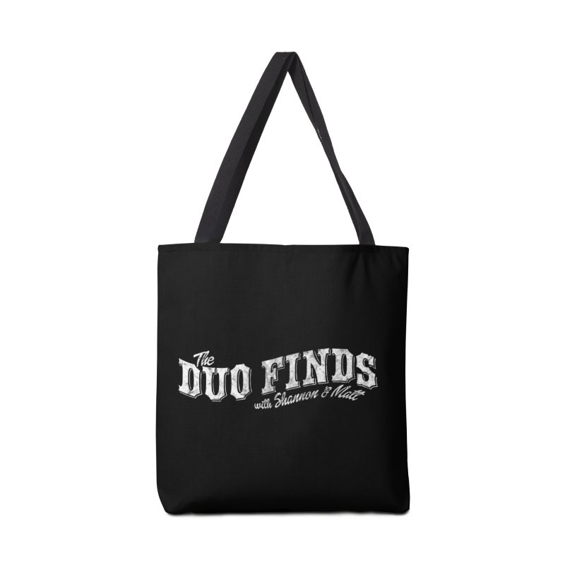 The Duo Finds Logo Aged Accessories Tote Bag Bag by The Duo Find's Artist Shop