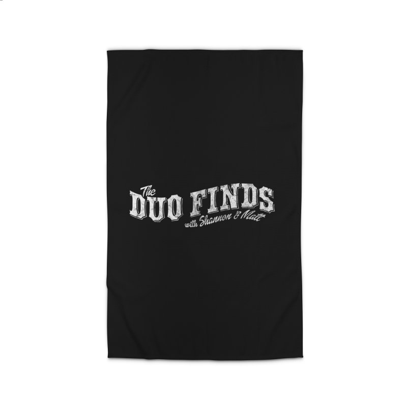 The Duo Finds Logo Aged Home Rug by The Duo Find's Artist Shop