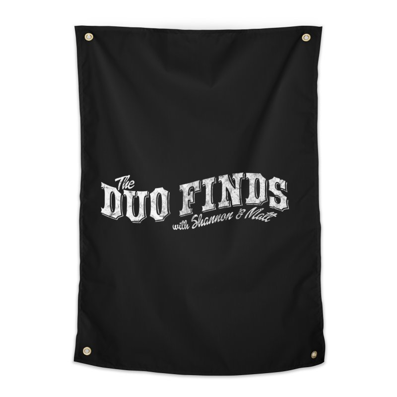The Duo Finds Logo Aged Home Tapestry by The Duo Find's Artist Shop