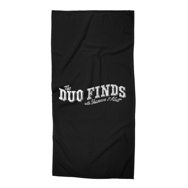 The Duo Finds Logo Aged Accessories Beach Towel by The Duo Find's Artist Shop