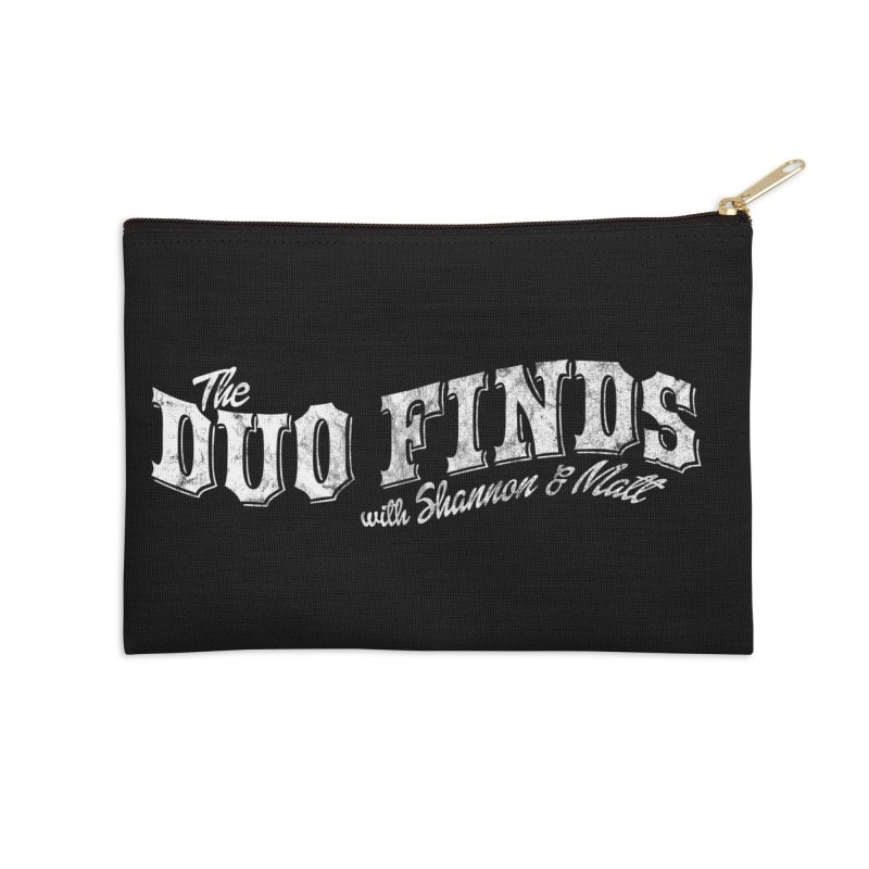 The Duo Finds Logo Aged Accessories Zip Pouch by The Duo Find's Artist Shop