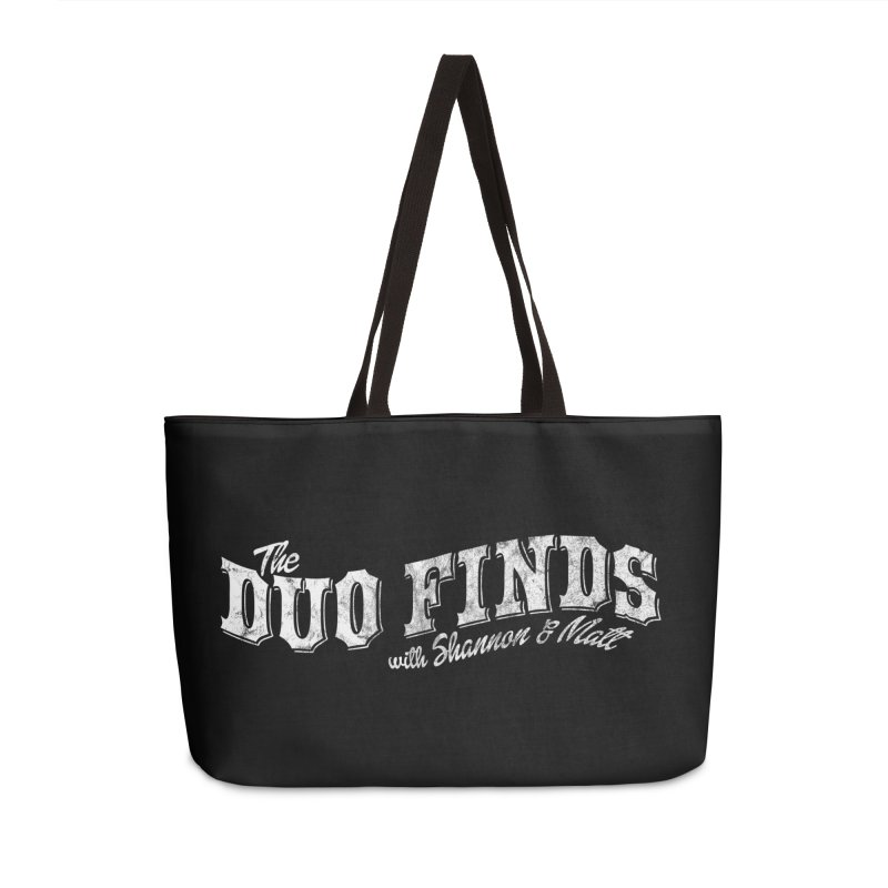 The Duo Finds Logo Aged Accessories Weekender Bag Bag by The Duo Find's Artist Shop