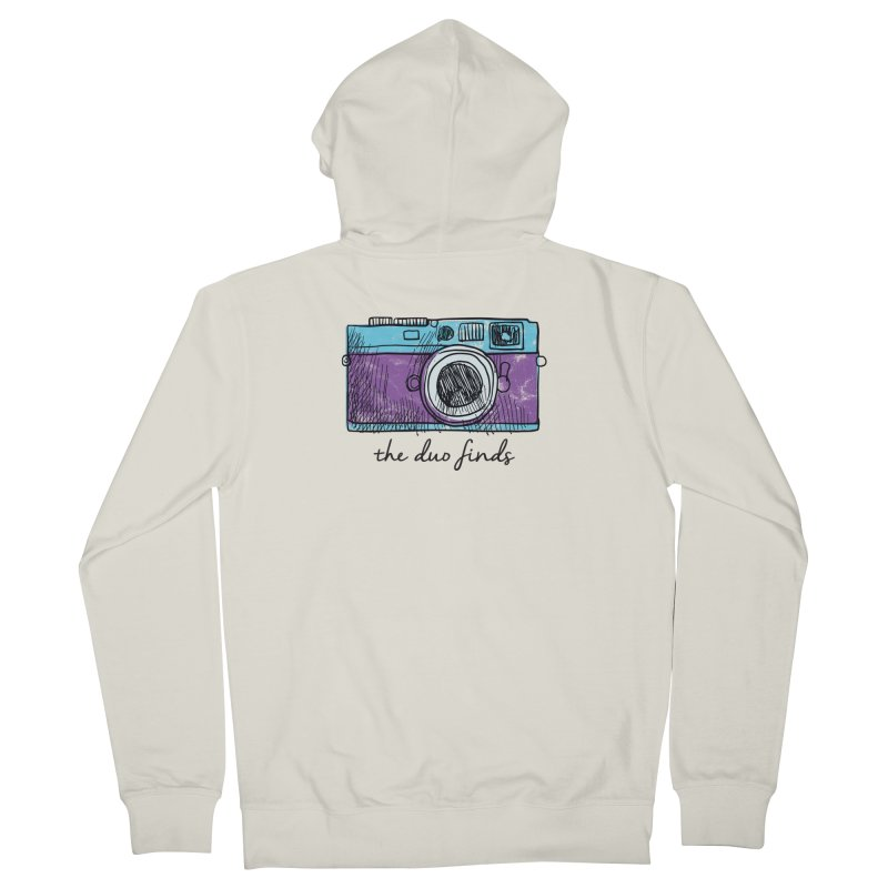 "The Duo Finds ""Camera"" Logo Women's French Terry Zip-Up Hoody by The Duo Find's Artist Shop"