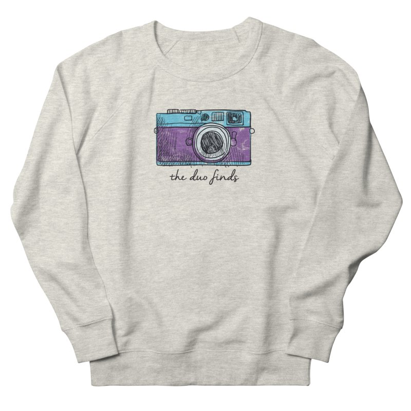 "The Duo Finds ""Camera"" Logo Women's French Terry Sweatshirt by The Duo Find's Artist Shop"