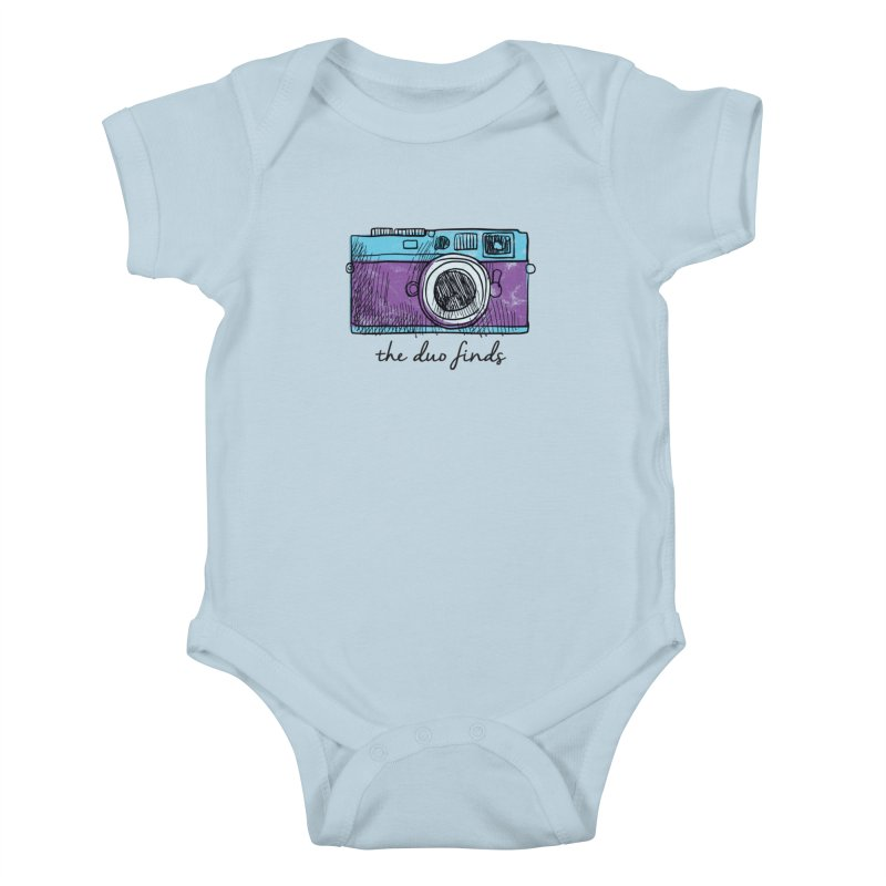 "The Duo Finds ""Camera"" Logo Kids Baby Bodysuit by The Duo Find's Artist Shop"