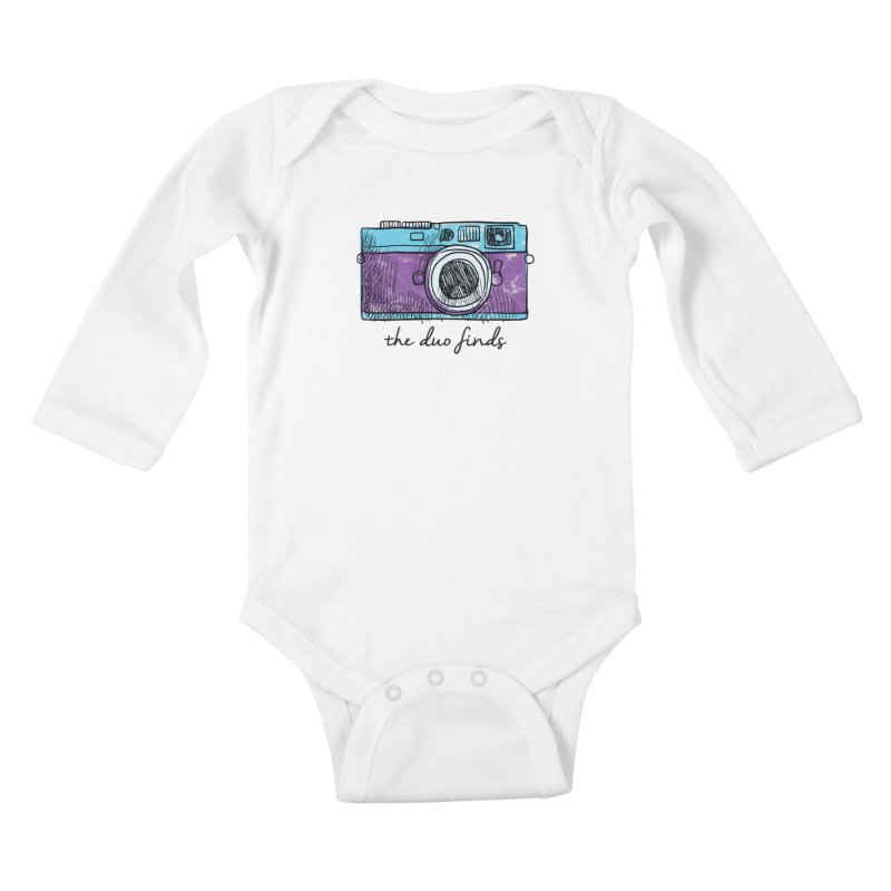 "The Duo Finds ""Camera"" Logo Kids Baby Longsleeve Bodysuit by The Duo Find's Artist Shop"