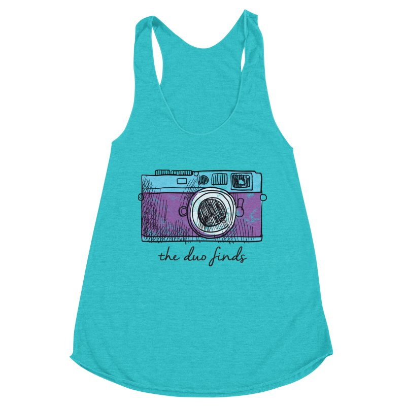 """The Duo Finds """"Camera"""" Logo Women's Racerback Triblend Tank by The Duo Find's Artist Shop"""
