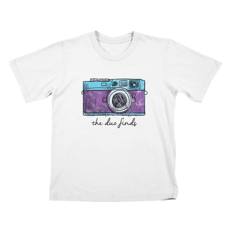 """The Duo Finds """"Camera"""" Logo Kids T-Shirt by The Duo Find's Artist Shop"""