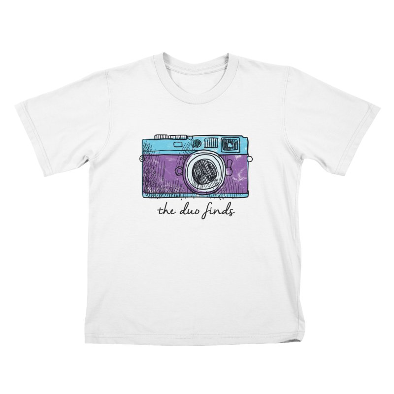 "The Duo Finds ""Camera"" Logo Kids T-Shirt by The Duo Find's Artist Shop"
