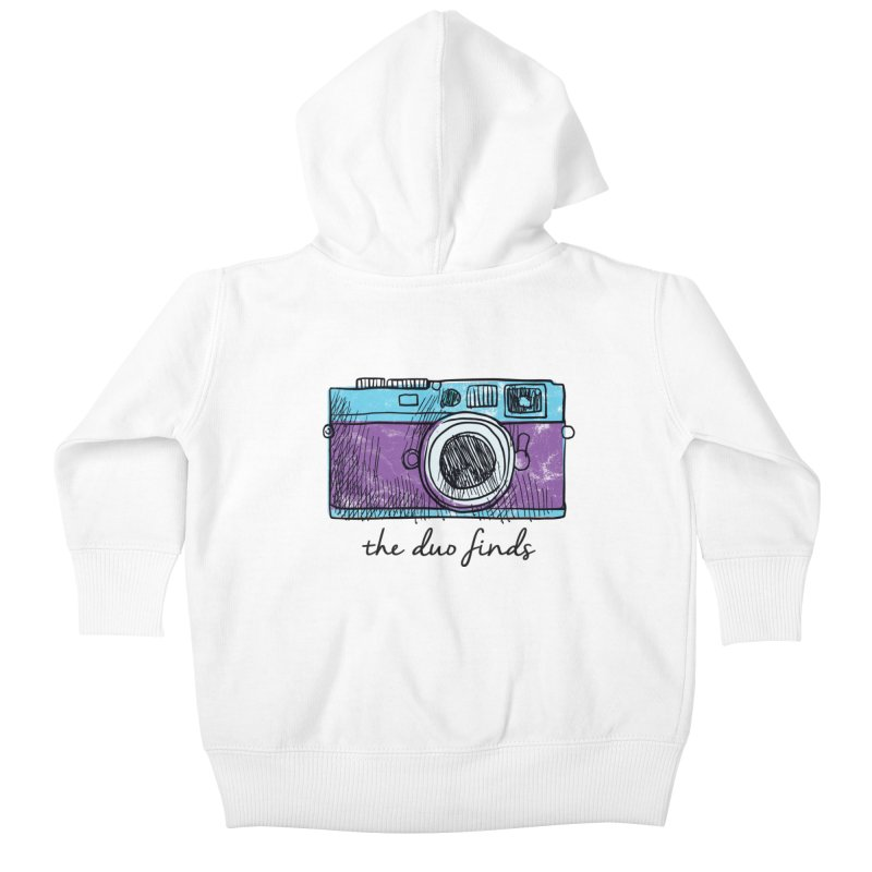 """The Duo Finds """"Camera"""" Logo Kids Baby Zip-Up Hoody by The Duo Find's Artist Shop"""