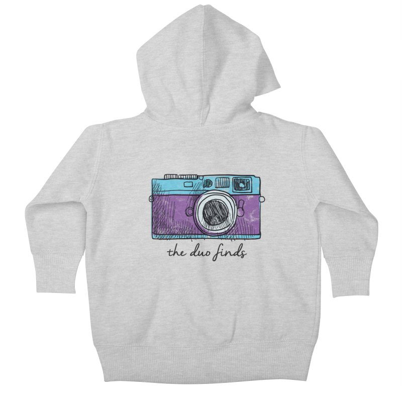 "The Duo Finds ""Camera"" Logo Kids Baby Zip-Up Hoody by The Duo Find's Artist Shop"