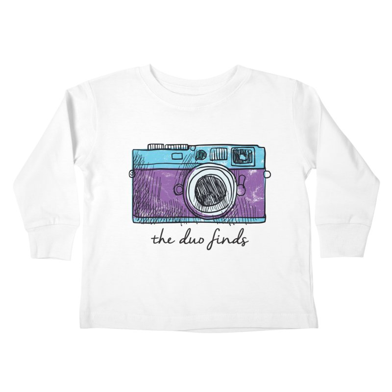 """The Duo Finds """"Camera"""" Logo Kids Toddler Longsleeve T-Shirt by The Duo Find's Artist Shop"""
