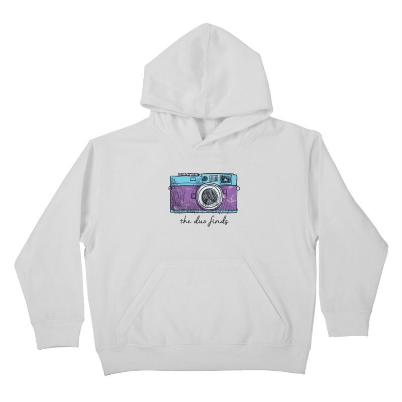 "The Duo Finds ""Camera"" Logo Kids Pullover Hoody by The Duo Find's Artist Shop"