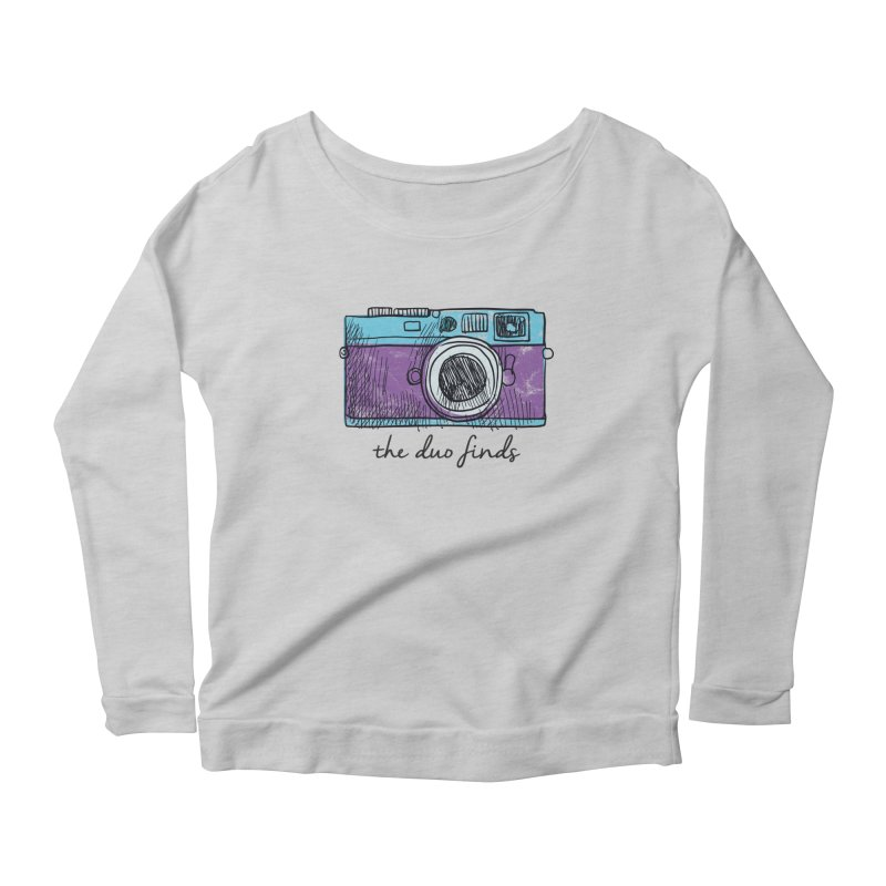 """The Duo Finds """"Camera"""" Logo Women's Scoop Neck Longsleeve T-Shirt by The Duo Find's Artist Shop"""
