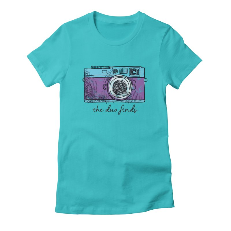 "The Duo Finds ""Camera"" Logo Women's Fitted T-Shirt by The Duo Find's Artist Shop"