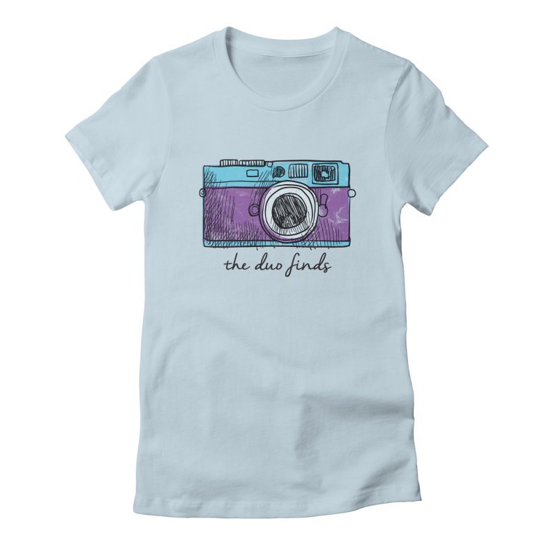 """The Duo Finds """"Camera"""" Logo Women's Fitted T-Shirt by The Duo Find's Artist Shop"""
